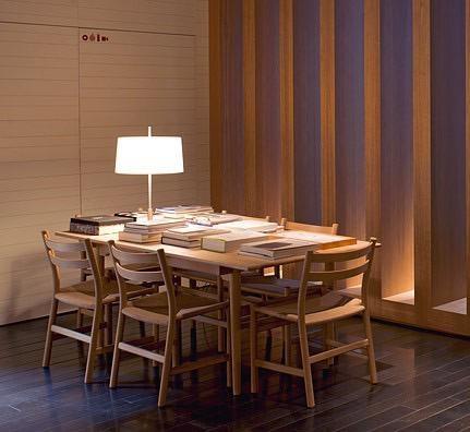 CH47橡木藤編餐椅