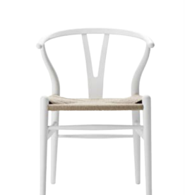 CH24 LIMITED, SIGNED SPECIAL-EDITION WISHBONE CHAIR IN SOFT WHITE FINISH