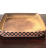1960's STONEWARE DISH WITH BASKET MOTIF
