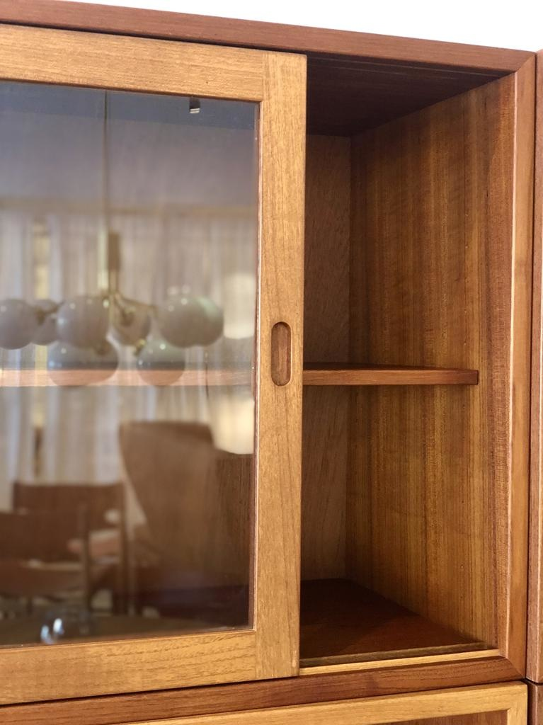 1950's ORESUND TEAK CABINET WITH SLIDING DOORS