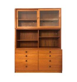 1950's 8 抽屜柚木古董書櫃