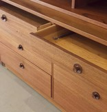 1950's TEAK DISPLAY & BOOKCASE WITH 8 DRAWERS