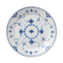 BLUE FLUTED HALF LACE TABLEWARE