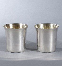 SILVER BEAKERS 镀金装饰银烧杯一对