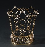 VERMEILLE BRIDAL CROWN WITH SEED PEARLS