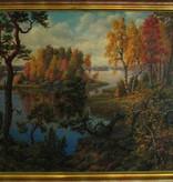 OIL ON CANVAS 瑞典景观布油画