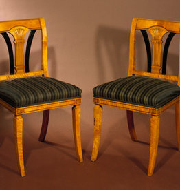 PAIR OF BEDERMEIER STYLE HALL CHAIRS