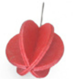 MINI BALL SHAPED ORNAMENT FOR LOVI TREE, BRIGHT RED FINNISH BIRCH, 1.7CM