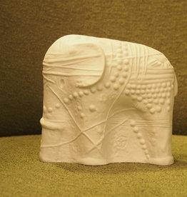 CERAMIC SCULPTURE 白象陶瓷雕塑