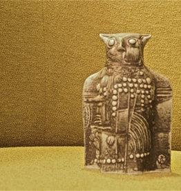 CERAMIC SCULPTURE 黑猫头鹰的陶瓷雕塑