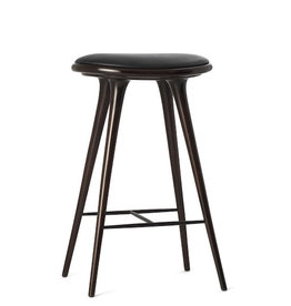 ETHICAL HIGH STOOL, DARK STAINED HARDWOOD