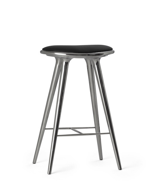 ETHICAL HIGH STOOL, RECYCLED ALUMINIUM