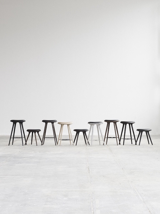 ETHICAL MEDIUM HIGH STOOL, PREMIUM EDITION IN SIRKA GREY FINISHED OAK