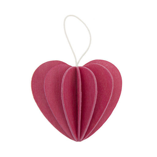 HEART SHAPED ORNAMENT IN PINK