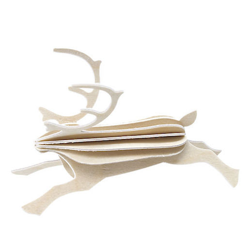 REINDEER SHAPED ORNAMENT IN NATURAL