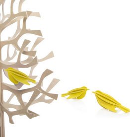 MINI BIRDS SHAPED ORNAMENT IN YELLOW