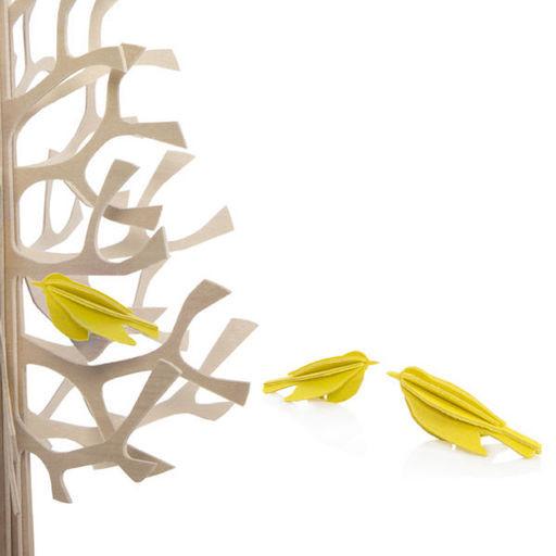 Lovi黄色迷你鸟形状装饰