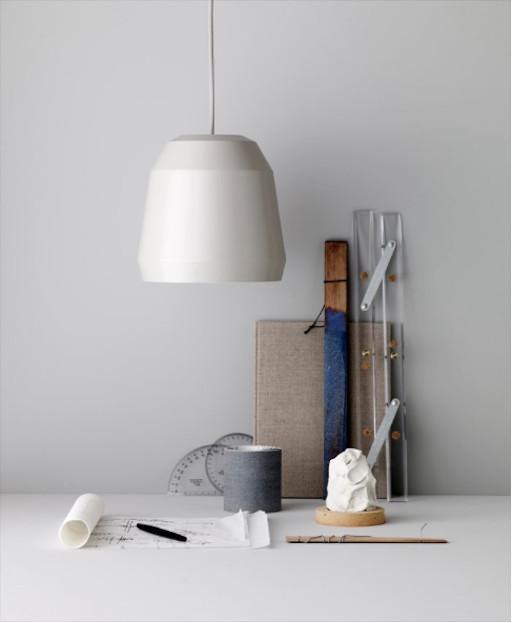 MINGUS 2 淺青瓷色啞光漆鋁吊灯