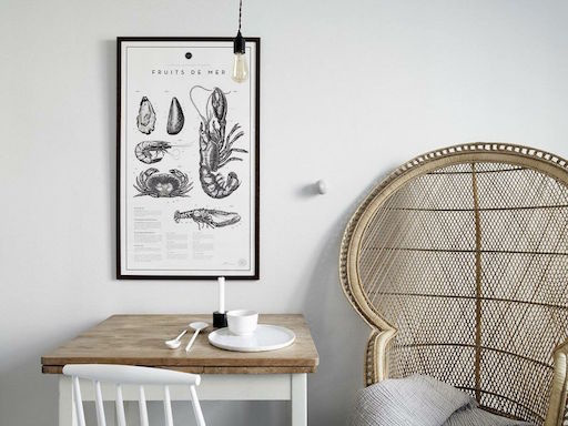 FRUITS DE MER LITHOGRAPHS PRINTS (UNFRAMED)