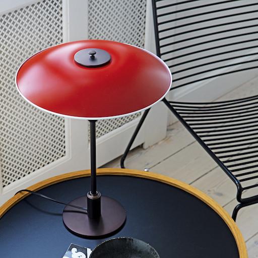 PH 3 1/2-2 1/2 TABLE LAMP IN RED (DISPLAY ITEM)