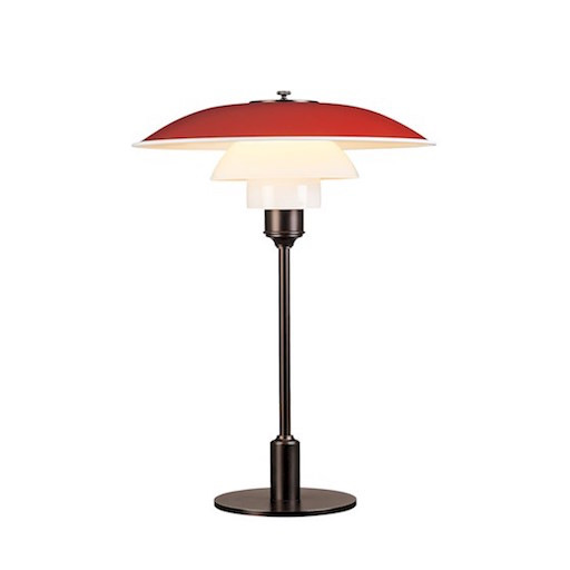 PH 3 1/2-2 1/2 TABLE LAMP IN RED
