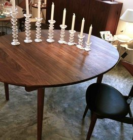 CH337实心胡桃木椭圆餐桌