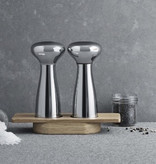 ALFREDO SALT AND PEPPER MILLS IN MIRROR-FINISH STAINLESS STEEL ∅8 | H20 CM