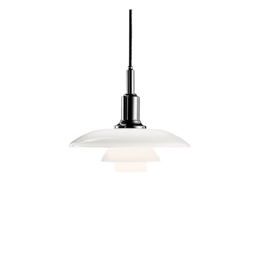 PH 3/2 PENDANT LAMP IN WHITE OPAL GLASS