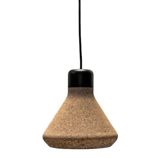 LUIZ LED PENDANT LAMP IN LIGHT NATURAL CORK SHADE