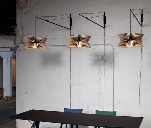 KONTRO 6000 PENDANT LAMP IN BLACK LAMINATED BIRCH