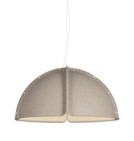 HOOD LED PENDANT LAMP IN SAND COLOUR