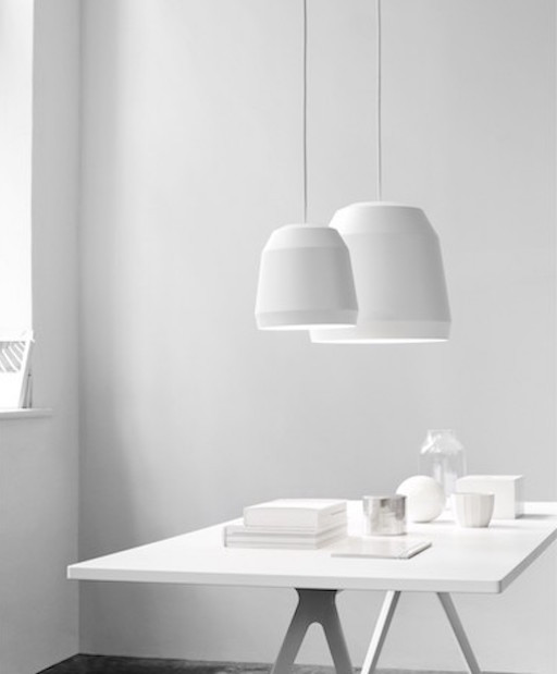 MINGUS 1 ALUMINIUM PENDANT LIGHT IN WHITE MATT LACQUER