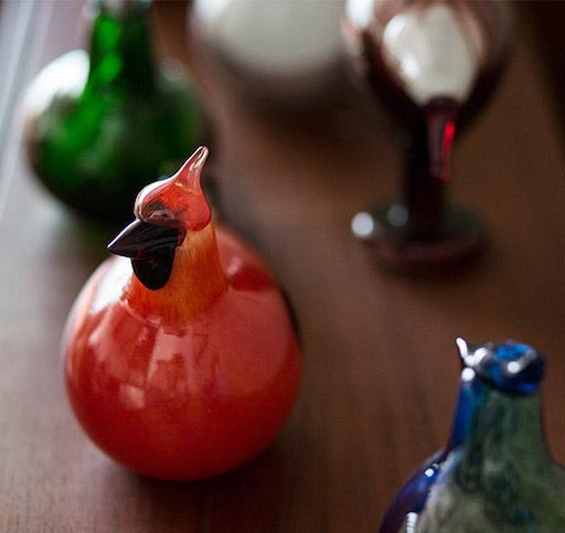 RED CARDINAL玻璃鳥