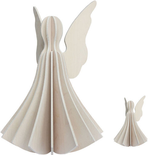 ANGEL SHAPED ORNAMENT IN WHITE