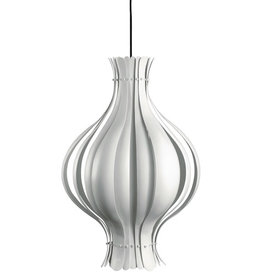 (DISPLAY) ONION-SHAPED PENDANT LAMP IN WHITE