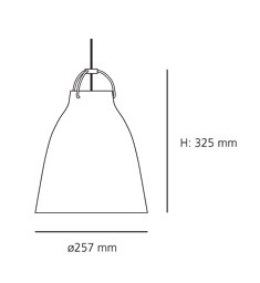 CARAVAGGIO P2 STEEL PENDANT LIGHT IN DARKER GREY