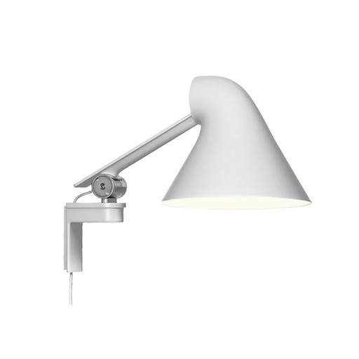 NJP LED WALL LAMP SHORT ARM IN WHITE