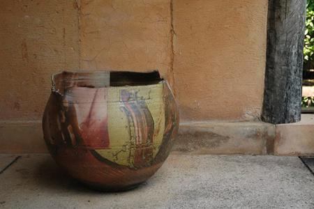 LARGE VASE叶灰釉大花瓶