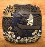 ANNIVERSARY WALL HANGING PLATE DECORATED YEAR 1985
