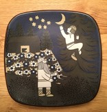 ANNIVERSARY WALL HANGING PLATE DECORATED YEAR 1987