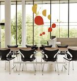3208  LILY 黑色皮革扶手餐椅