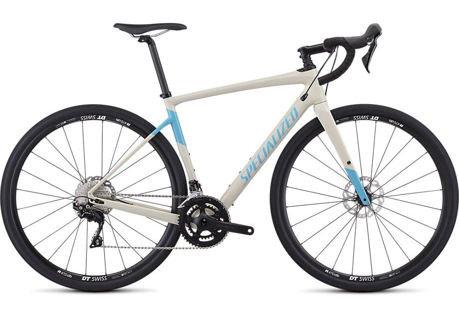 SPECIALIZED® 2019 DIVERGE MEN SPORT GLOSS  WHITE MTN/NICE BLUE 56 cm/Large