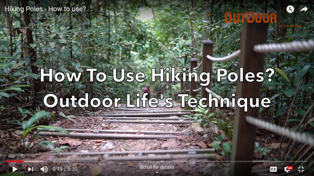 How to use hiking Pole - Techique