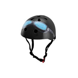 Kiddimoto Kinderhelm Black Goggle Small