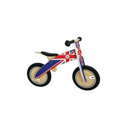Kiddimoto Loopfiets hout Union Jack