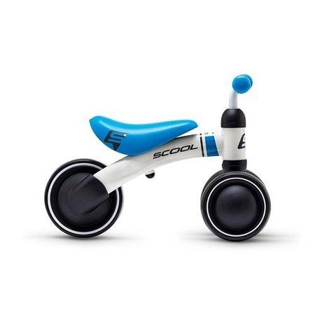 S'COOL Loopfiets PedeX First - driewieler vanaf 1 jaar wit/blauw
