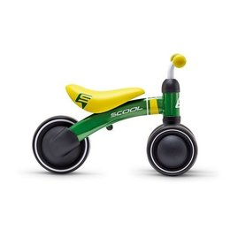 S'COOL Loopfiets PedeX First vanaf 1 jaar - groen met geel