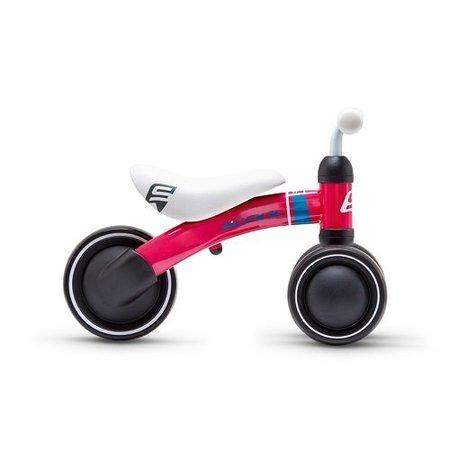 S'COOL Loopfiets PedeX First - driewieler vanaf 1 jaar aarbei rood/petrol