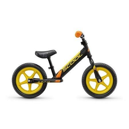 S'COOL Loopfiets PedeX Race - vanaf 2 jaar -zwart/geel/oranje