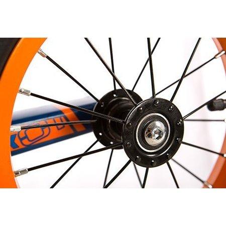 S'COOL Loopfiets aluminium PedeX 01 - vanaf 2 jaar - oranje met blauw